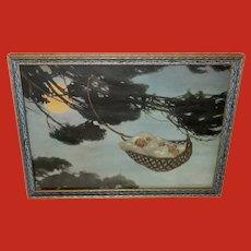 Jessie Willcox Smith Vintage Print of Hush Baby on Treetop
