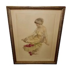 Bessie Pease Gutmann Vintage Print of the Message of the Roses