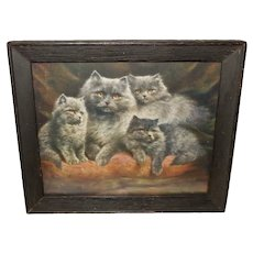 Lilian Cheviot Vintage Print of Silver Persians