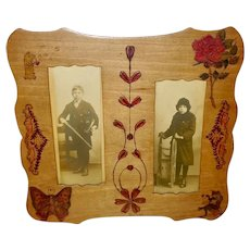 Chase and Son Folk Art Style 1910 Frame With Photos of Children