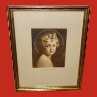 C. Bosseron Chambers Small Vintage Print of Young Jesus