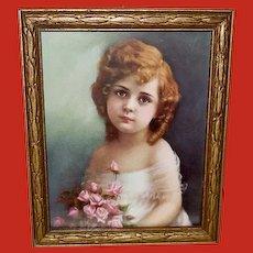 Adelaide Hiebel Vintage Miniature Print of Rosebuds