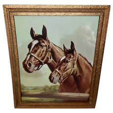 Vintage Print of Two Horses - Blue Grass Champions