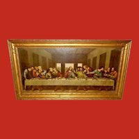 Vintage Textured Print of The Last Supper by Da Vinci