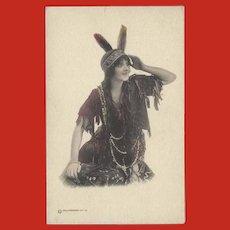 Parkinson Art Company 1912 Postcard Tinted Indian Maiden
