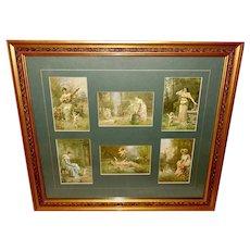 Hans Zatzka Framed Postcard Display