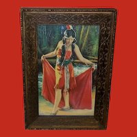 Homer Nelson Small Vintage Print of Indian Maiden Tenawa