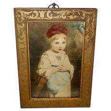 Joshua Reynolds Small Tinted Chromolithograph of Strawberry Girl
