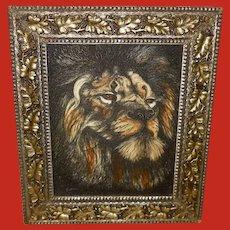 Marvetti Engraving of Lion Head