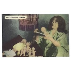 Vintage Postcard of Rose O'Neill with Kewpies