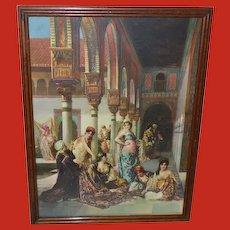 Edouard Richter Vintage Print of Harem Women Oriental Splendor