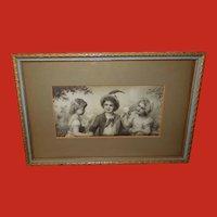 Franz Lefler Embossed Campbell Art Company The Little Casanova