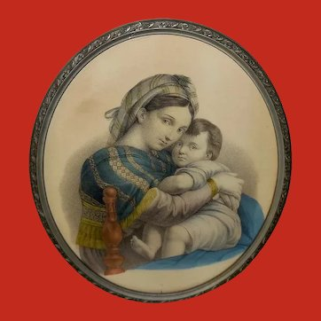 Raphael Vintage Print of Madonna and Child