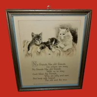 Buzza Motto Print with Cats - Friendship