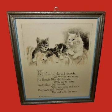 Buzza Motto Print with Cats - Friendship
