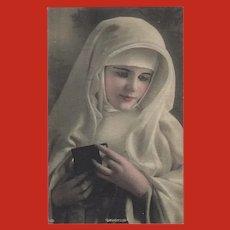 Gartner and Bender Vintage Hand Tinted Postcard of Devotion
