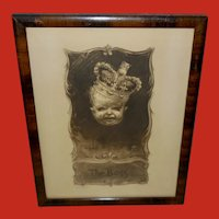 John de Yongh Vintage Print of Baby as The Boss