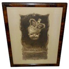 John de Yongh Vintage Print of Baby as The Boss