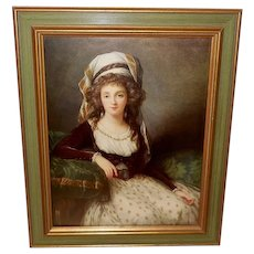 Vintage Portrait Print of a French Duchess by Marie Vigee Le Brun