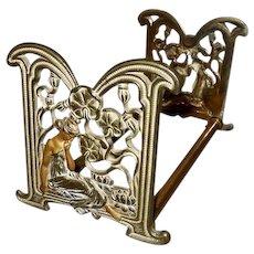 Judd Expandable Sliding Bookrack with Art Nouveau Style Lady