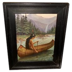 James Arthur Indian Maiden in Canoe