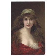 Angelo Asti Raphael Tuck Vintage Postcard of Juliet