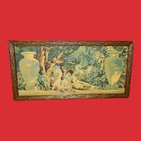 Maxfield Parrish Small Vintage Print of Garden of Allah