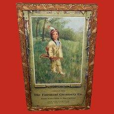 Esther Hunt Vintage Calendar Print of Native American Indian Child