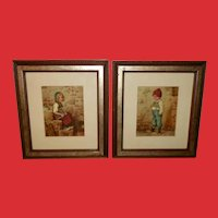 Kaulbach Pair of Vintage Prints of Hansel and Gretel