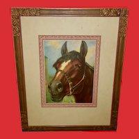Vintage Print of Horse Titled Good Old Dobbin