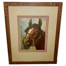 Vintage Print of Horse Titled Good Old Dobbin