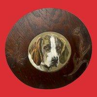 Hunting Dog Print in Embellished Wood Frame