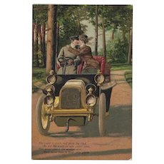 Embossed German PFB Romantic Postcard