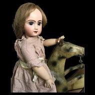 Antique papier mache' riding horse for your doll