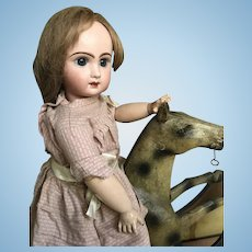 Antique papier mache' riding horse for your doll