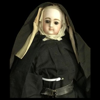 Impressive nun doll from French factory jumeau