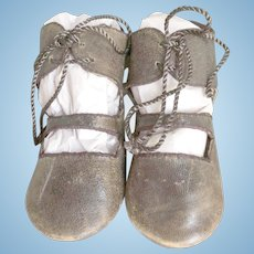 "Original shoes for Jumeau ""triste"" bebe size 15"