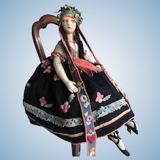 All original Lenci lady in Hungarian costume