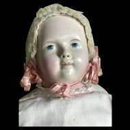 Early German papier mache' composition painted features baby