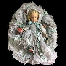 Beautiful lenci 300 model with elaborate rich orlando dress and felt flowers