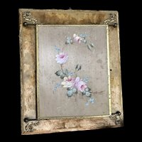 Lovely display piece mirrors haund painted roses