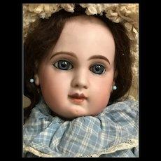 Sweet EJ Jumeau Depose' size 10 blue eyes and Steiff rabbit