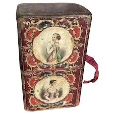 Antique about 1870 sewing box