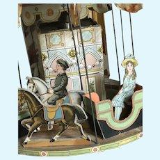 Unique victorian cardbord Carousel