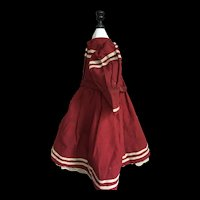 Inusual red mariner french bebe dress