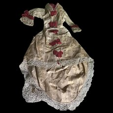 Gourgeous french fashion gown from 1870/1875 era
