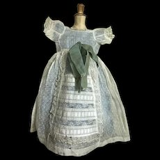 Magnificent french doll dress about 1860/65