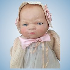 Antique Composition Bye Lo Baby Doll, 18 IN, Cameo Bye Lo Grace Storey Putnam