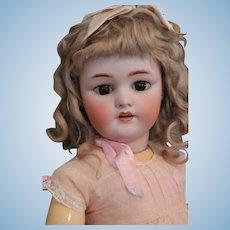 "Antique Simon & Halbig 1078 Doll, 25"", Original Mohair Wig, Antique German Doll"