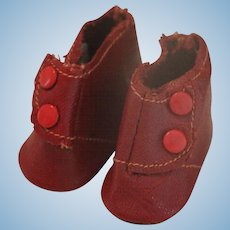 Vintage Madame Alexander Red Doll Boots, 1 3/4 IN, Vintage Red Doll Shoes